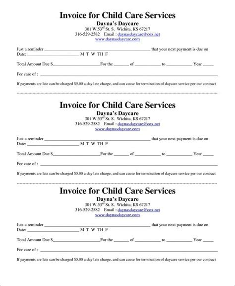 Day Care Receipt Template by 21 Daycare Receipt Templates Free Pdf Word Excel Formats