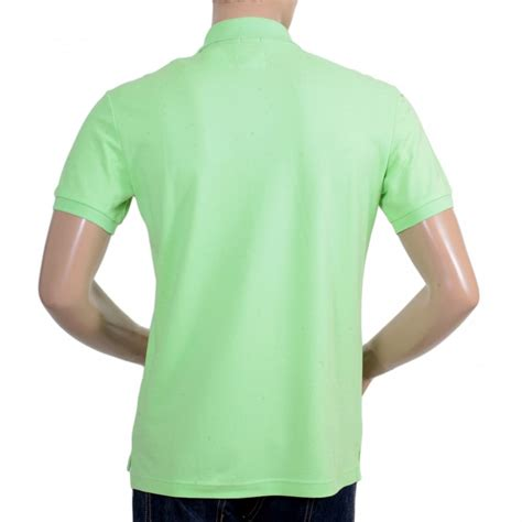 Shirt Green Light armani polo shirt in light green with embroidered logo