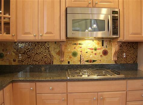custom glass backsplash klimt custom crafted glass tiled backsplash artisan