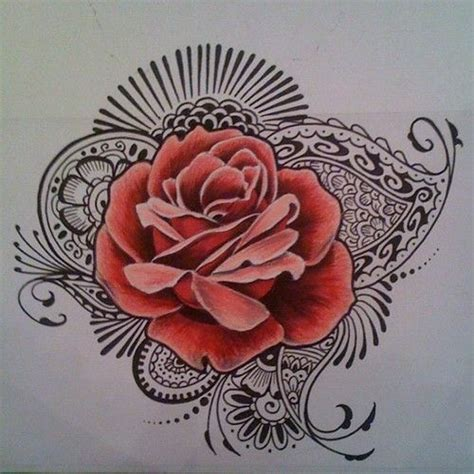 mandala rose tattoo design mehndi best 25 henna ideas on