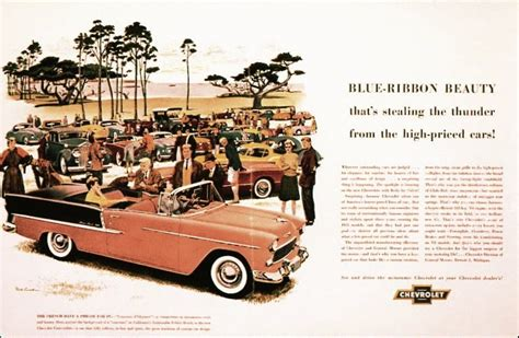 about chevy ads 55 chevrolet magazine ad