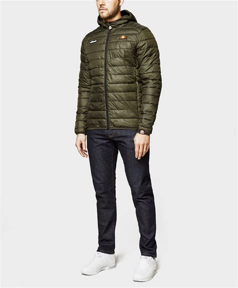 Ellesse Parka In Green lyst ellesse lombardy padded jacket in green for