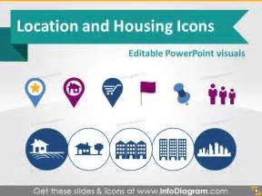 powerpoint templates location location map marker building house logistics symbols