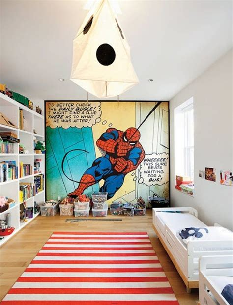 toddler superhero bedroom pow 15 comic book inspired kids rooms to the rescue