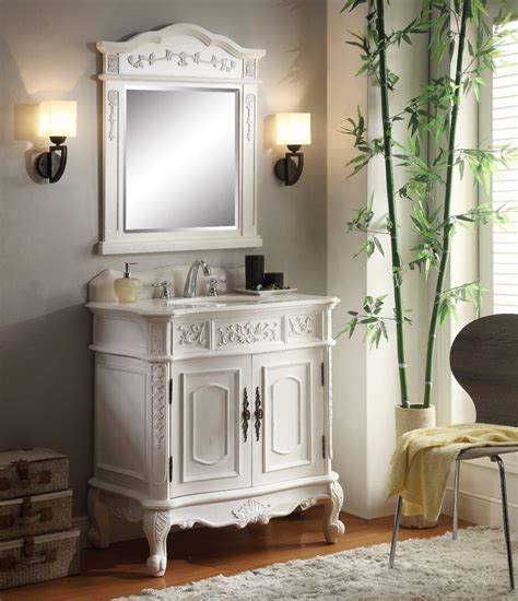 33 inch vanity cabinet adelina 33 inch antique white single bathroom vanity