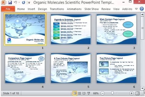 Organic Molecules Scientific Powerpoint Template Powerpoint Templates For Scientific Presentations