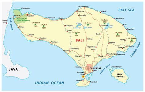 map of bali bali map areas topography regencies