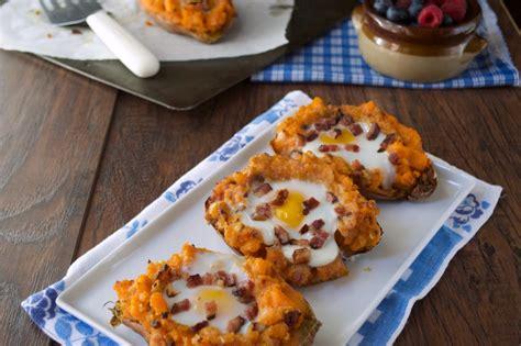 paleo twice baked breakfast sweet potatoes plaid paleo