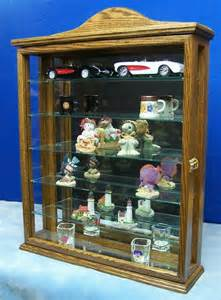 Display Cabinet For Figurines Walnut Wall Curio Cabinet Display For Collectibles