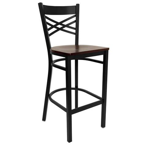 mahogany bar stool flash furniture 29 in black and mahogany bar stool