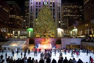 16 christmas trees nyc on christmas in new york
