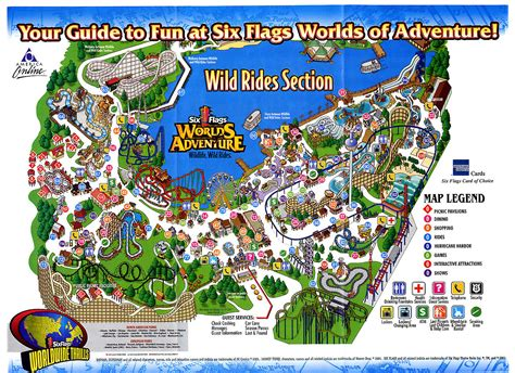 theme park maps parks we and flags on