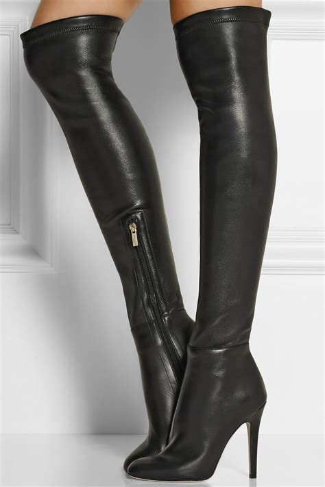 turner stretch leather thigh boots