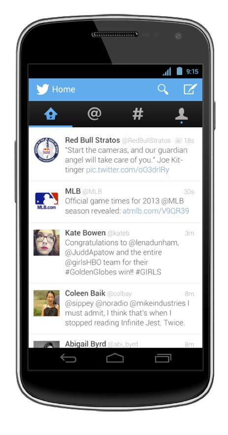 new twitter layout android twitter releases updates for android iphone and mobile