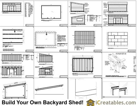 16x24 Shed Plans Free by Complete Free Plans For 16x24 Shed Free Shed Plan