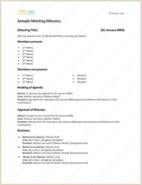 example of minutes in the meeting refrence contemporary hoa minutes