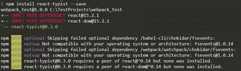 how to update npm itself node js npm peerdependency can t install package