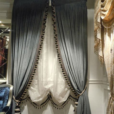 Fancy Drapes Thick Velvet Curtains With Sense Of Elegant Style For Home