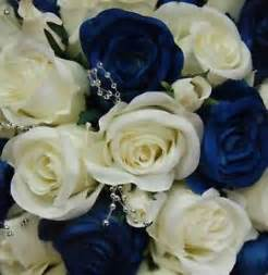 Fake Wedding Bouquets Artificial Wedding Flowers Bouquets Silk Flower Rose Cream White Roses Blue Set Ebay
