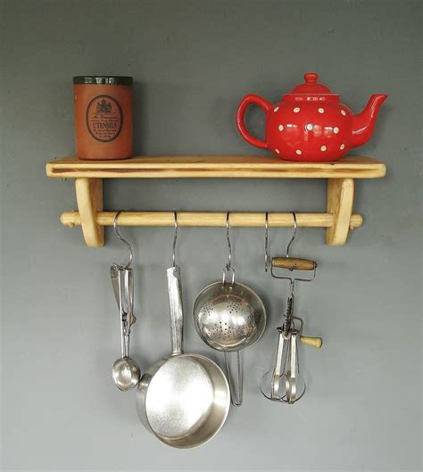 Kitchen Pan Rail Kitchen Pan Rail And Shelf In Wood By Seagirl And