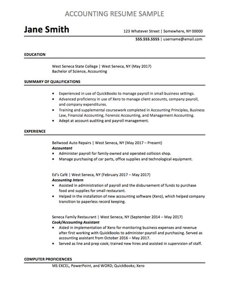 Resume For Accounting by Accountant Resume Sle Chegg Careermatch