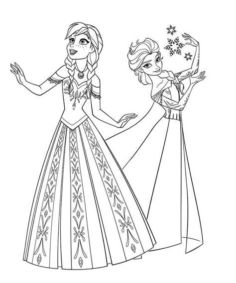 frozen coloring pages elsa elsa dress coloring pages