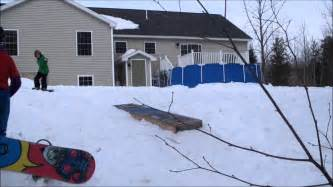 backyard terrain park backyard snowboarding backyard terrain park youtube