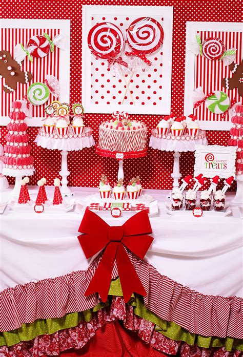 christmas party amanda s parties to go candy christmas dessert table