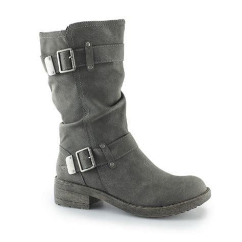 grey biker boots rocket trumble zip up buckle biker boots grey