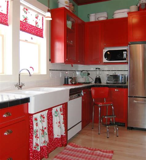 ideas to decorate a kitchen strawberry kitchen decoration with printed kitchen
