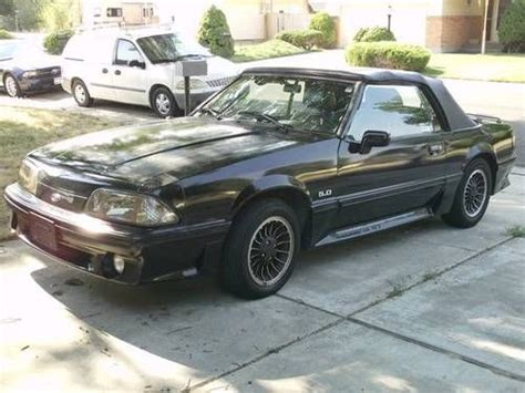 89 ford mustang convertible find used 89 convertible black ford mustang gt 5 0 in