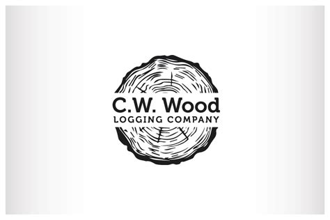 woodwork company masculine bold logo design for c w wood logging company