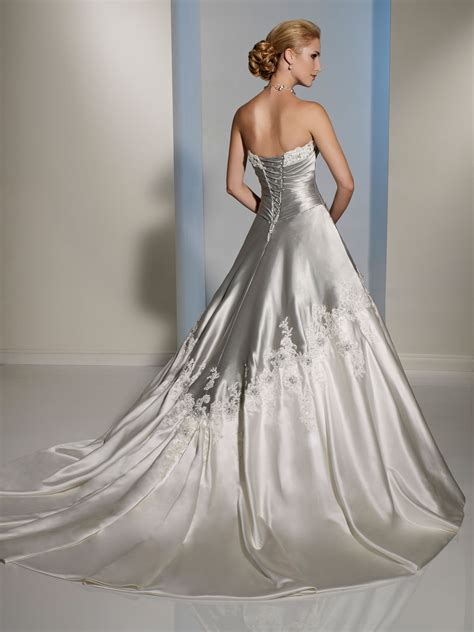 Silver Wedding Dresses by Silver And White Draped Bodice Wedding Dress