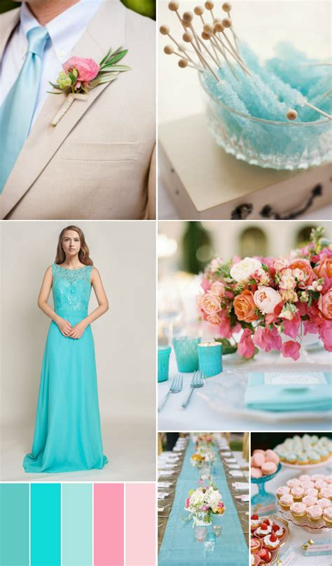 top 5 wedding color ideas in shades of blue and green