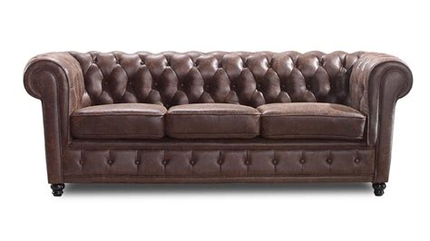 Canape Cuir Vieilli Vintage 3196 by Canap 233 Chesterfield Liverpool 3 Places En Tissu Mobilier