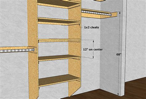 Closet Shelf Heights Standard by Gary Katz