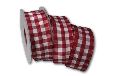 bã ro kaufen karoband vichykaro bordeaux 40mm mit draht jetzt g 252 nstig