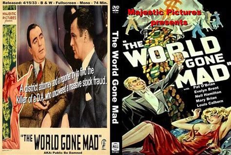world gone by the world gone mad 1933 movie poster the world gone mad 1933 dvd the world gone mad images