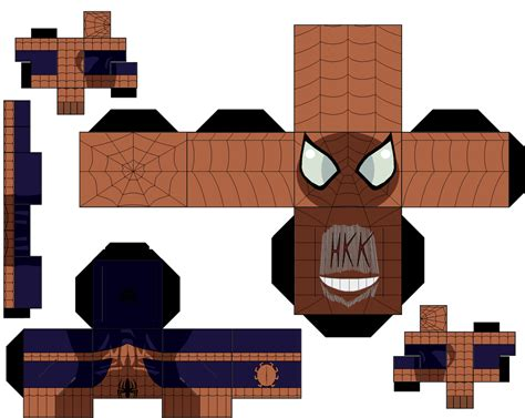 Spider Papercraft - spider avenger earth 1610 by hollowkingking on