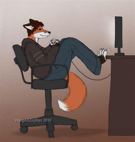 the gamer fox gamer fox by wingedzephyr on deviantart