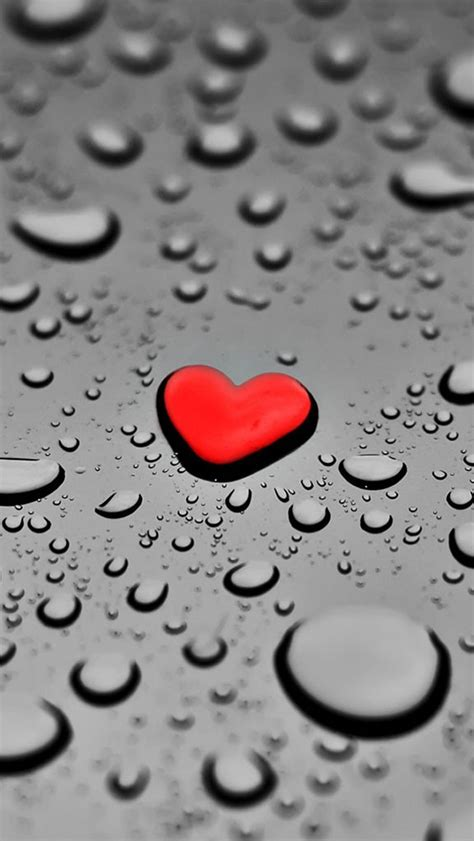 Wallpaper For Iphone 5 Heart | red heart shaped water droplets iphone 5 wallpapers top