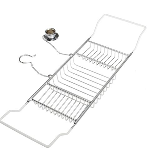 chrome bathtub caddy aromatherapy bathtub caddy chrome in tub caddies and