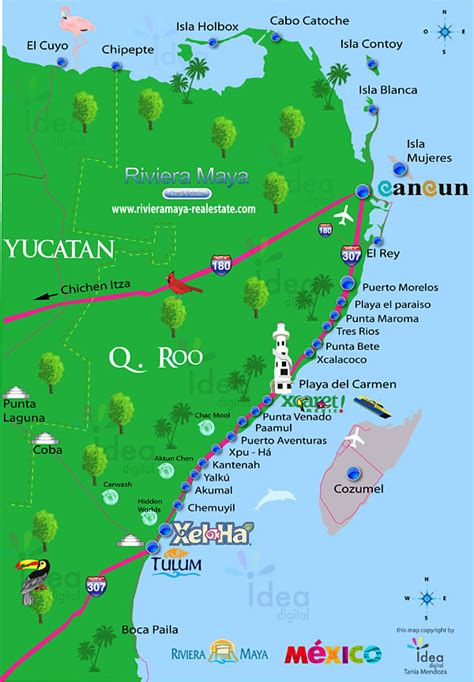 riviera map mexico mayan riviera map