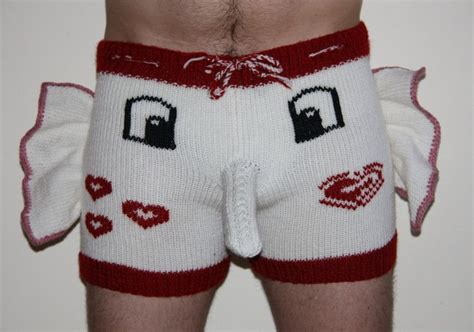 knit elephant boxers shorts trousers handmade present gift