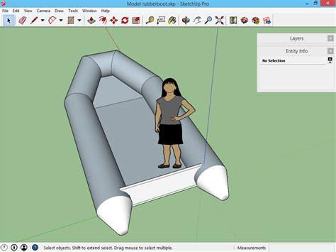 bootje tekenen bootje afwerken sketchup 3d voor iedereen