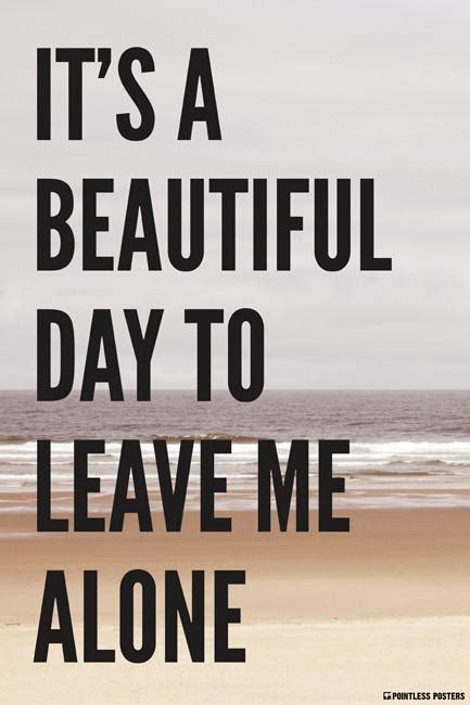 Leave Cranky Alone by It S A Beautiful Day To Leave Me Alone Poster Pointless