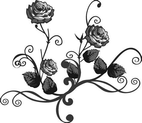 printable stencils rose roses stencil clipart best