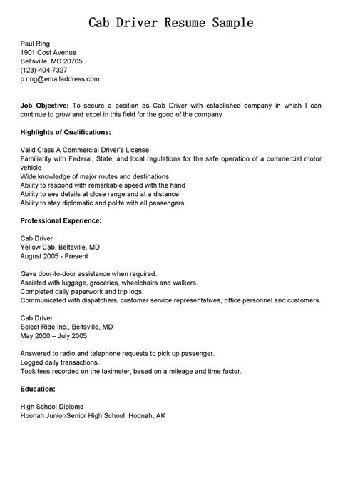 amazing resume format for driver post resume templates amazingormator driver post extraordinary sle taxi position also sles