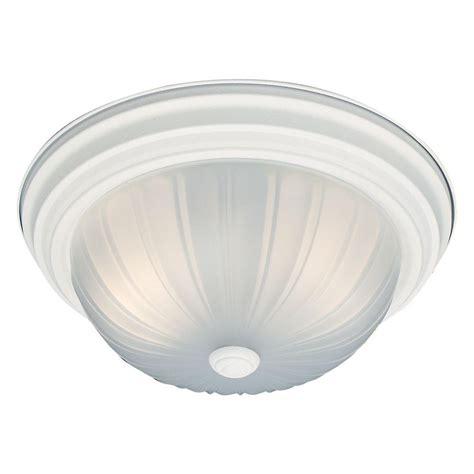 Ceiling Light Texture Hton Bay 2 Light Textured White Flushmount Wb0372 The Home Depot