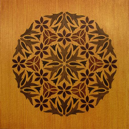 Golgafrinchan Wood Marquetry Kit Art